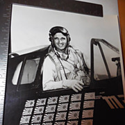 SALE Original 8x10 Photo WWII Pilot David McCampbell Plane Official US Navy Photo