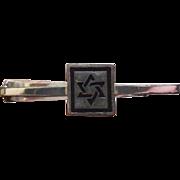 SALE Sterling Fenwick Sailors Jewish Star Star Of David Signed F&S Tie Bar