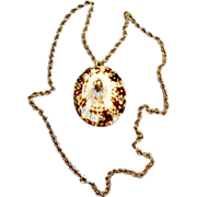 12K Gold Filled Necklace With Brown Limpet Shell Pendant