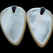 Fabulous Scandinavian Gerda Lynggaard Pour Monies Mother of Pearl Earrings