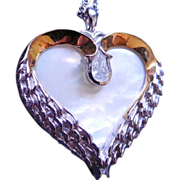Sterling Silver Sympathy Always In My Heart... Bradford Exchange Necklace