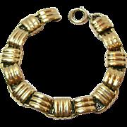 SALE Lovely Vintage Napier Sterling Silver Bracelet - Goldwashed