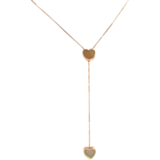 Lovely 14K Gold Double Heart Necklace - 01 585 Italy - Perfect Wedding Jewelry!