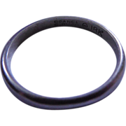 SALE Vintage 18k Gold Ring Signed Orange Blossom - White Gold Wedding Band - Size 4