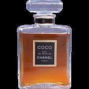 SALE Vintage Coco Chanel Eau De Parfum 1.7 Fl Ounce - Glass Bottle and Stopper