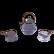 SALE Retired Swarovski Crystal Memories Teapot and Teacups