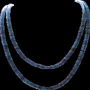 SALE Santo Domingo Heishi Bead Turquoise Necklace - 4mm beads
