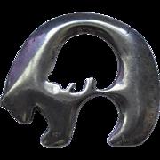 Sterling Silver Bear Fetish - Signed Anne ??esign & Bjorn Stova '91