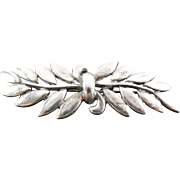 Signed Danecraft Lovely Sterling Silver Botanical Brooch