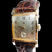 SALE 14K Gold Hamilton Stafford WW 22 Jewels Cal 770 In Original Box Presented For ...