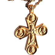 Alva Museum Replicas Cross Crucifix Necklace - Pectoral Jesus