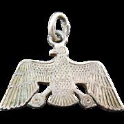 SALE Vintage Egyptian Vulture Nekhbet Hallmarked Silver Pendant or Charm