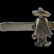 SALE Sterling Silver Mexico Money Clip Tie Clip -  Sarape & Sombrero
