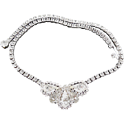 Gorgeous Signed Weiss Rhinestone Crystal Choker Necklace Perfect for Wedding or Holiday Wear!