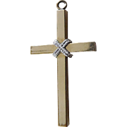 SALE Lovely Signed Vintage Two Tone Gold Crucifix - Gold Filled Signed TK (Tru Kay)