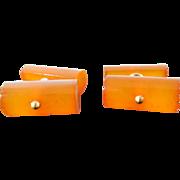 SALE Vintage Butterscotch Amber Cufflinks Cuff Buttons Cuff Links