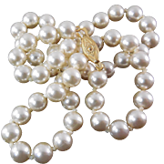 """SALE Lovely Iridescent Faux Pearl Necklace - 19"""" long"""