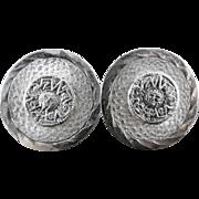 SALE Sterling Silver Taxco Mexican Aztec Mayan Calendar Cufflinks Eagle 113 E?B