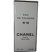 Rare Seal Chanel No 19 Eau De Cologne - 4 Fluid Ounces