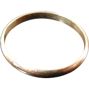 SALE 10K Yellow Gold Ring For Baby or Doll - size 0