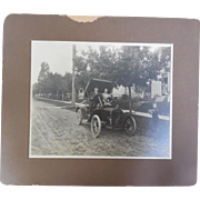 SALE Antique 8x10 Photograph of Early Automobile with young Frederick King Weyerhaeuser