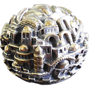 Vintage Sterling Silver 925 Jerusalem 3000 Signed Paperweight Figurine