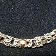 SALE Italian Silver Necklace - Unusual Fancy Links - Signed DJ