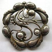 Georg Jensen Moonlight Blossom Brooch In All Sterling Silver - #159