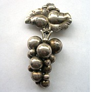 Georg Jensen Moonlight Grapes Brooch In Sterling Silver - #217B