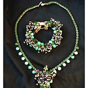 SALE Juliana D&E Hand Painted Polka Dot Necklace and Bracelet