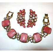 SALE Gorgeous Juliana Pink and Purple Bracelet with Matching Earrings