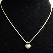 SALE Lagos Caviar Beaded Heart Necklace - Sterling Silver