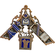 Masonic Past Master Medal Pilgrim Lodge 712 F. & A. M. Philadelphia 1945