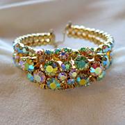 Schoffel of Austria pastel AB rhinestone bracelet