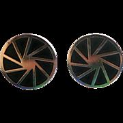 Vintage Sterling Silver Pinwheel Cufflinks
