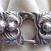 Vintage 1940's sterling link bracelet arts & crafts style
