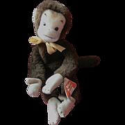 Vintage Schuco Bigo Bello Monkey, 1960's, Label
