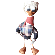 Comical Felt Cowboy Donald Duck, 1940's