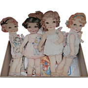 SALE PENDING Sweet Vintage Played With Paper Dolls