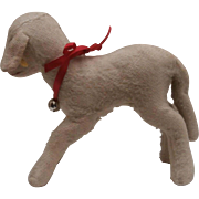 Well Loved Large Steiff Lamby Lamb , 1959 to 1964, Steiff Button