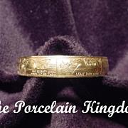 Little Bo Peep vintage nursery rhyme child's bracelet in shiny brass