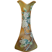 Nippon Cherry Blossom and Gold Tall Vase