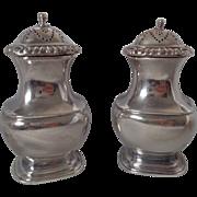 Ellis Barker Silver Plate Salt & Pepper Shakers