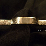 Unger Brothers rare posey holder sterling silver tussie mussie pin