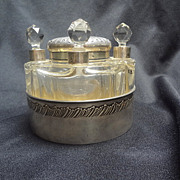 French Perfume and Powder Jar set