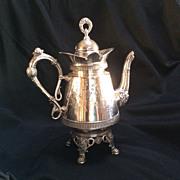 Tea Pot, silver plate