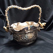 Nut Bowl, Victorian Silver Plate