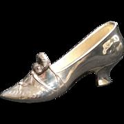 Shoe, silverplate