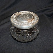 Powder Jar, Sterling