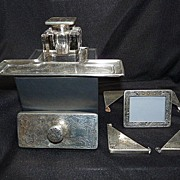 Desk Set, Sterling with Inkwell